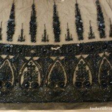Antigüedades: ANTIGUA PIEZA BORDADA CON AZABACHES - S. XIX. Lote 116166963