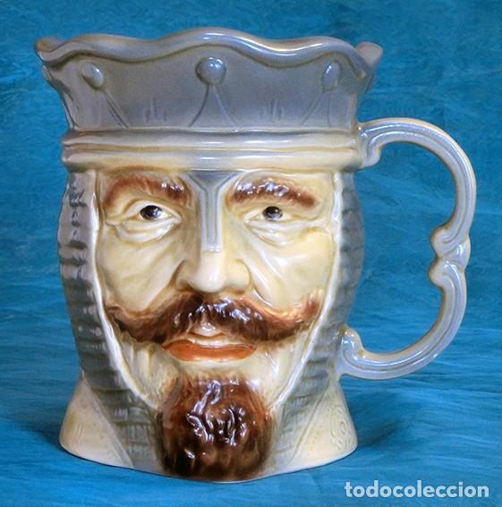 GRAN JARRA DE CERÁMICA INGLESA - WILLIAM I - KINGSTON POTTERY - SELLADA - PIEZA MUY DETALLADA - (Antigüedades - Porcelanas y Cerámicas - Inglesa, Bristol y Otros)