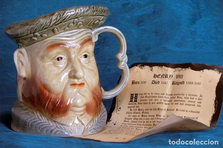 GRAN JARRA DE CERÁMICA INGLESA - HENRY VIII - KINGSTON POTTERY - SELLADA - CERTIFICADO AUTENTICIDAD (Antigüedades - Porcelanas y Cerámicas - Inglesa, Bristol y Otros)