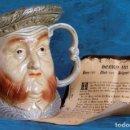 Antigüedades: GRAN JARRA DE CERÁMICA INGLESA - HENRY VIII - KINGSTON POTTERY - SELLADA - CERTIFICADO AUTENTICIDAD. Lote 116174139