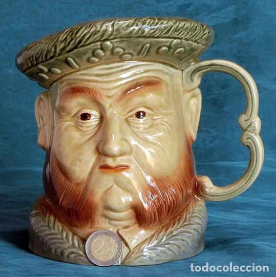 Antigüedades: GRAN JARRA DE CERÁMICA INGLESA - HENRY VIII - KINGSTON POTTERY - SELLADA - CERTIFICADO AUTENTICIDAD - Foto 3 - 116174139
