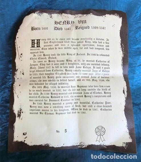 Antigüedades: GRAN JARRA DE CERÁMICA INGLESA - HENRY VIII - KINGSTON POTTERY - SELLADA - CERTIFICADO AUTENTICIDAD - Foto 5 - 116174139