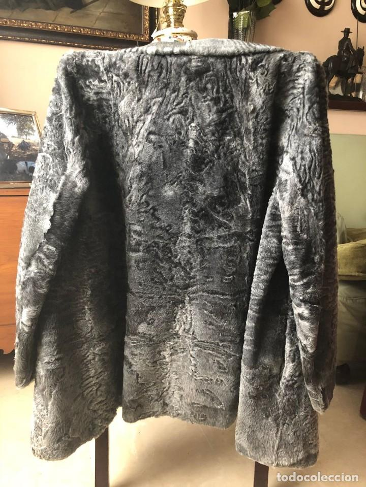 CHAQUETON PIEL ASTRACAN GRIS (Antigüedades - Moda y Complementos - Mujer)