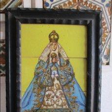 Antigüedades: RETABLO CERAMICO VIRGEN DE LOS REYES (AZULEJOS). Lote 116197711