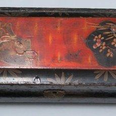 Antigüedades: ANTIGUA CAJA LACADA JAPONESA. SIGLO XIX. Lote 116209683
