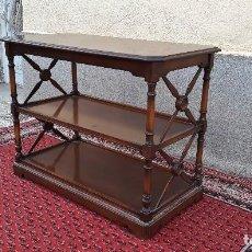 Antigüedades: CARRITO DE SERVIR MUEBLE AUXILIAR ANTIGUO CAMARERA ESTANTERÍA ANTIGUA ESTILO CLÁSICO ROMANO VINTAGE. Lote 116214819