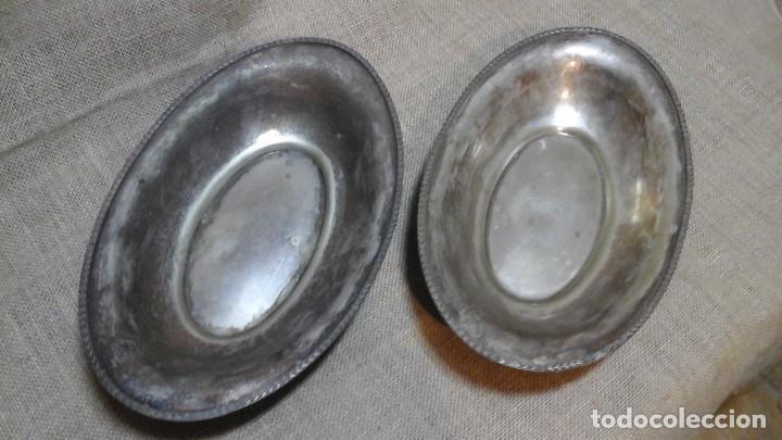 PAREJA DE PANERAS PLATEADAS . AÑOS 50 (Antigüedades - Platería - Bañado en Plata Antiguo)
