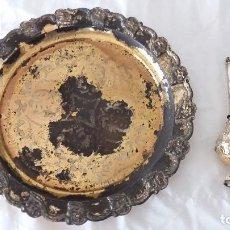 Antigüedades: JUEGO PLATA ARABE FUENTE E INCENSARIO. Lote 116239491