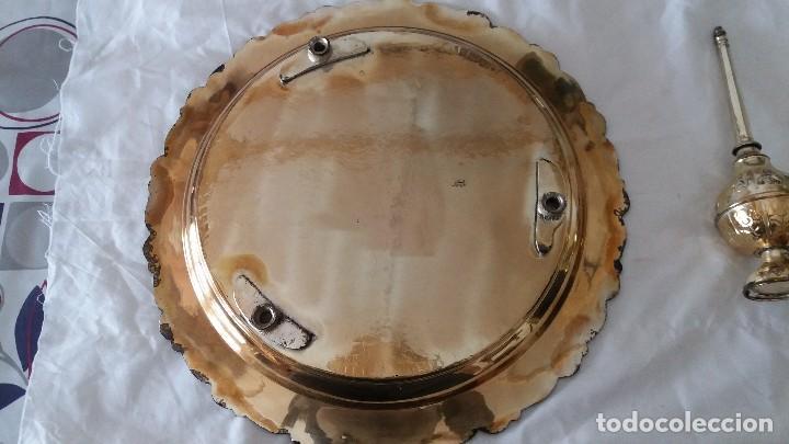 Antigüedades: Juego plata arabe fuente e incensario - Foto 4 - 116239491