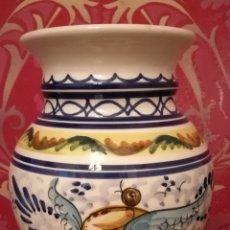 Antigüedades: JARRÓN DE CERÁMICA DE TRIANA. Lote 116248268
