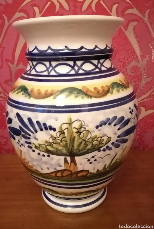 Antigüedades: Jarrón de cerámica de Triana - Foto 2 - 116248268