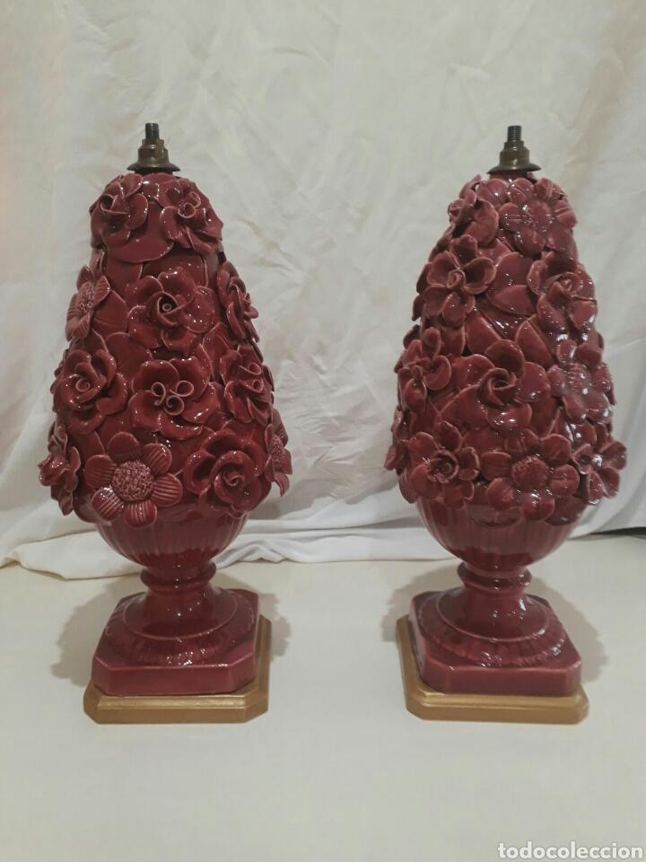 PAREJA DE LAMPARAS MANISES (Antigüedades - Porcelanas y Cerámicas - Manises)