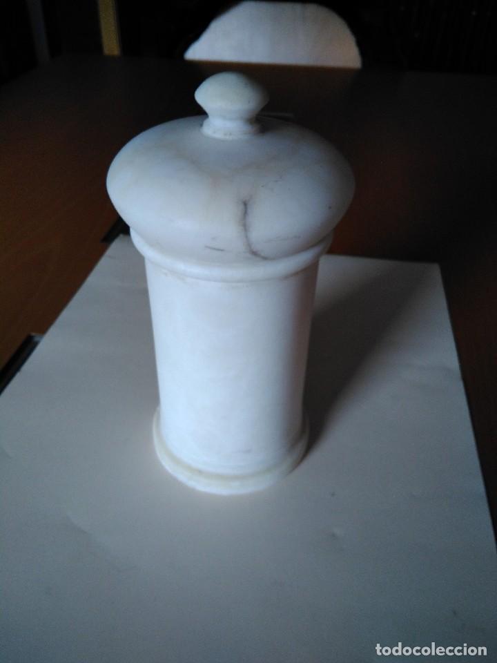 Antigüedades: Bote de farmacia de mármol orza,para plantas medicinales - Foto 2 - 116252807