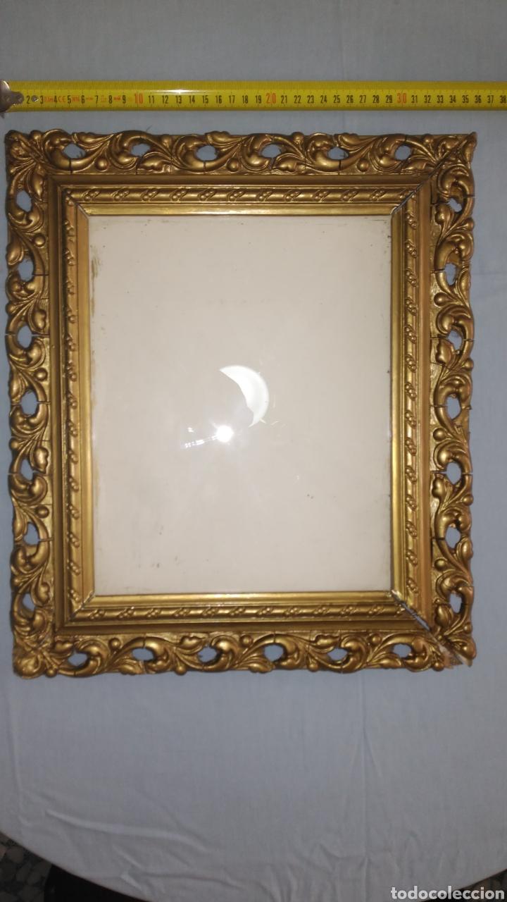 marco antiguo en madera, pan de oro y cristal - Comprar Marcos ...