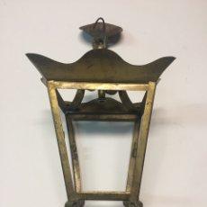Antigüedades: FAROLILLO DE HOJALATA. Lote 128025282