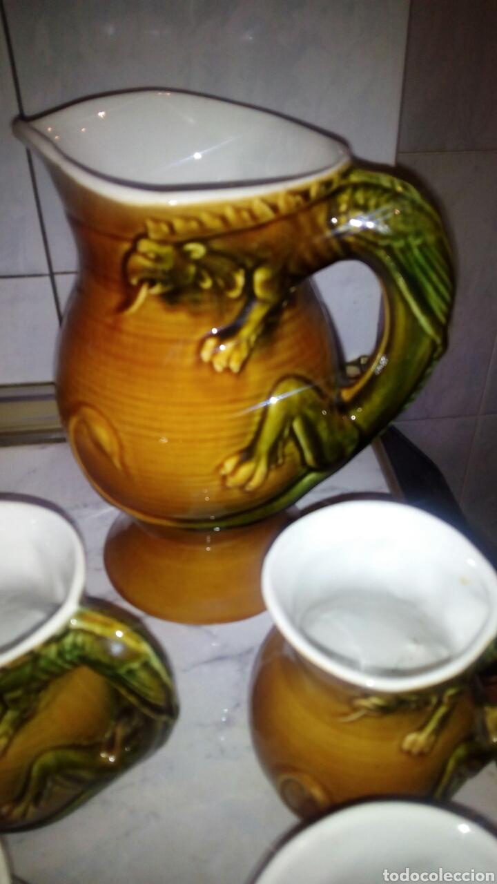 Antigüedades: Juego de ceramica Tarragra,Santander - Foto 2 - 116295203