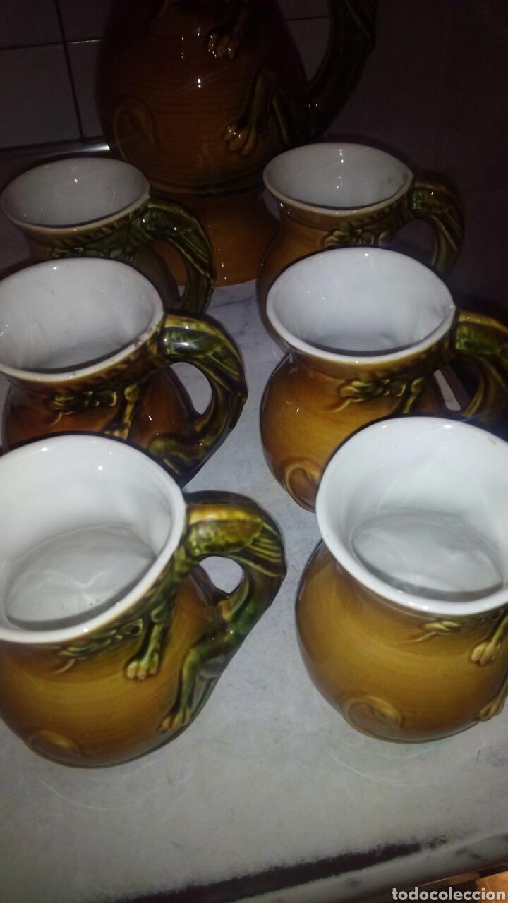 Antigüedades: Juego de ceramica Tarragra,Santander - Foto 3 - 116295203