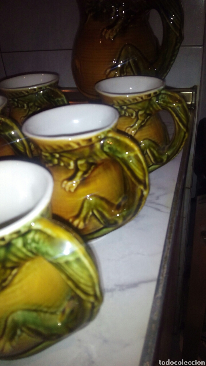 Antigüedades: Juego de ceramica Tarragra,Santander - Foto 5 - 116295203