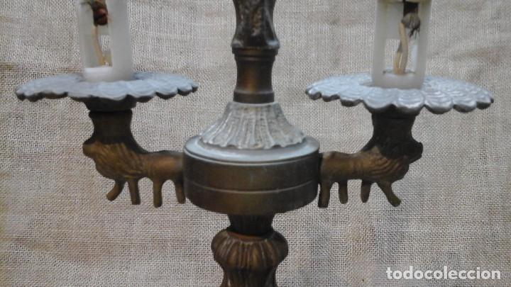 Antigüedades: Lámpara- candelabro . Composición , a restaurar - Foto 9 - 116299411