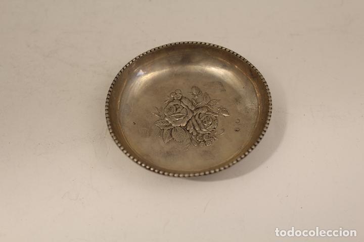Antigüedades: bandeja en plata maciza de ley 925milesimas - Foto 2 - 125989975