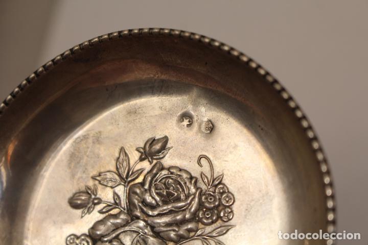 Antigüedades: bandeja en plata maciza de ley 925milesimas - Foto 3 - 125989975