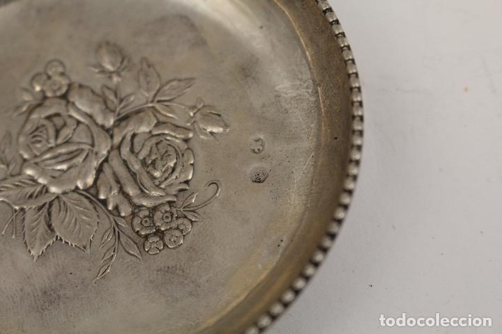Antigüedades: bandeja en plata maciza de ley 925milesimas - Foto 5 - 125989975
