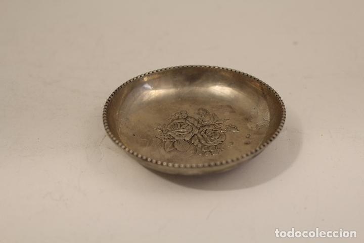 Antigüedades: bandeja en plata maciza de ley 925milesimas - Foto 6 - 125989975