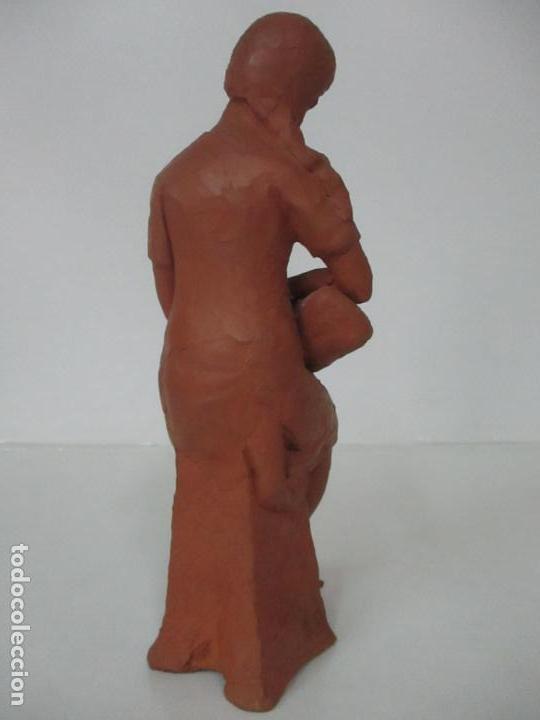 Antigüedades: Joven Figura - Puntaire - Encajera - Terracota - Firma Camps - Foto 6 - 116304371