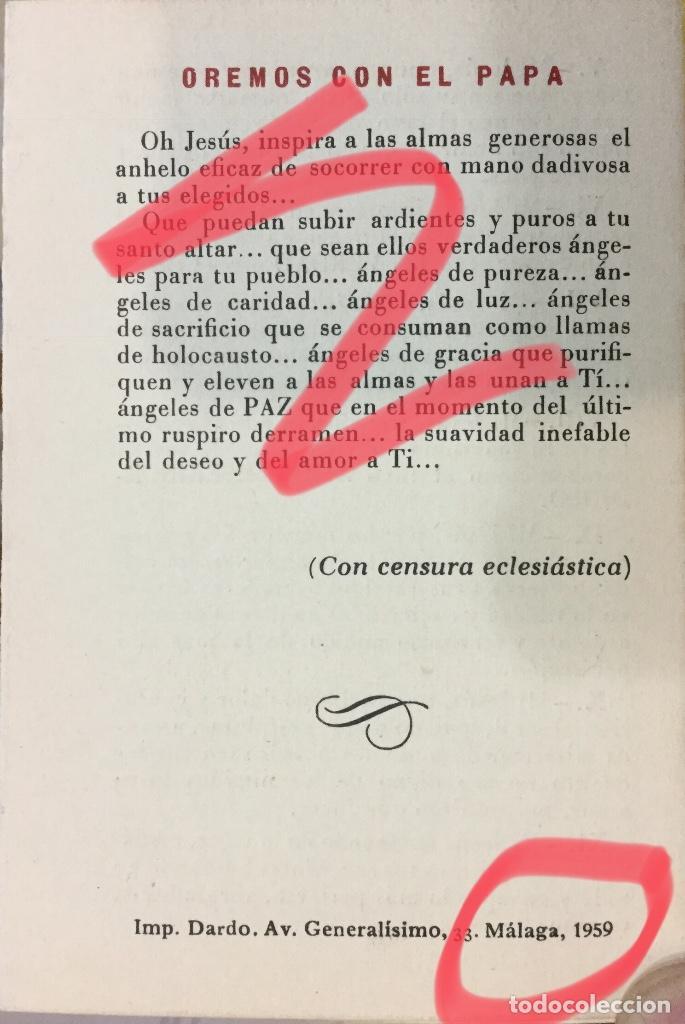 Antigüedades: TRÍPTICO VÍA CRUCIS PARA SACERDOTES AÑO 1959 - Foto 5 - 116317087