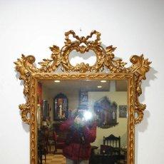 Antigüedades: ANTIGUO ESPEJO ISABELINO EN PAN DE ORO. Lote 116347027