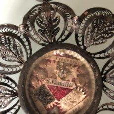 Antigüedades: ANTIGUO RELICARIO RELIQUIA CAJA Y FILIGRANA EN PLATA SELLADO Y LACRADO DE ORIGEN SIGLO XVII -XVIII. Lote 116334095