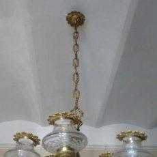 Antigüedades: LÁMPARA METÁLICA DE TECHO . RECOGIDA EN BARCELONA.. Lote 116351799