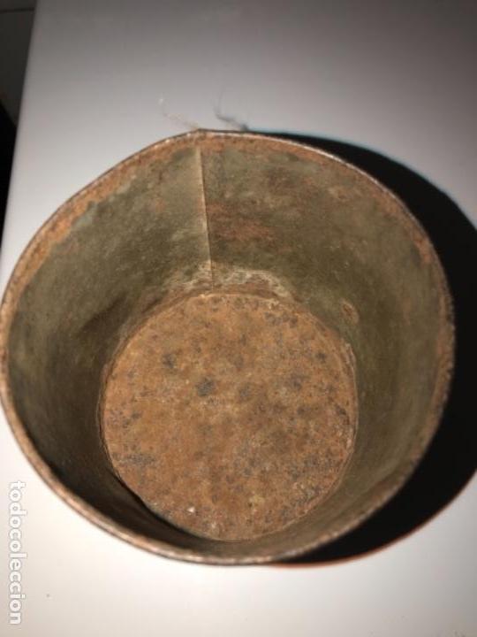 Antigüedades: Medidor leche,medio litro, chapa - Foto 2 - 116363143