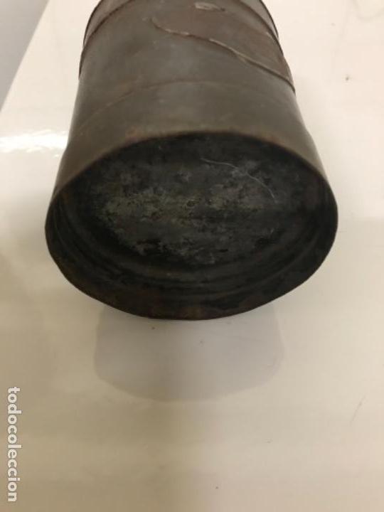 Antigüedades: Medidor leche,medio litro, chapa - Foto 3 - 116363143