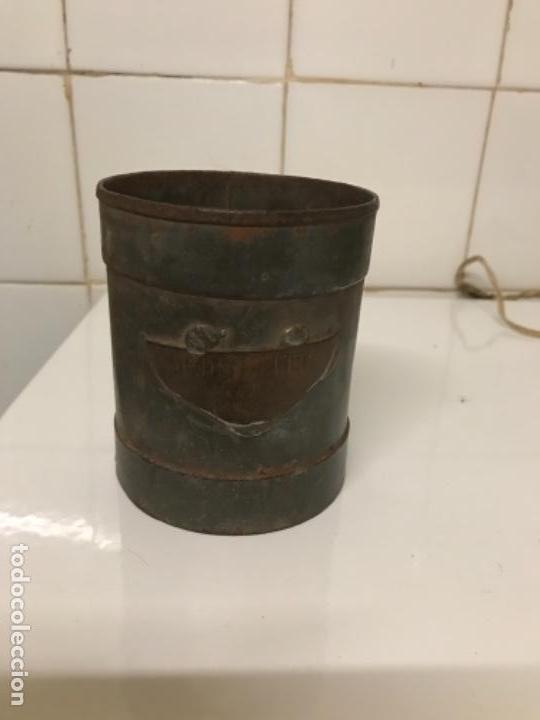 MEDIDOR LECHE,MEDIO LITRO, CHAPA (Antigüedades - Técnicas - Rústicas - Ganadería)