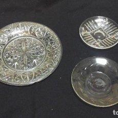 Antigüedades: LOTE DE TRES PLATOS.SANTA LUCÍA Y OTROS . Lote 116395959