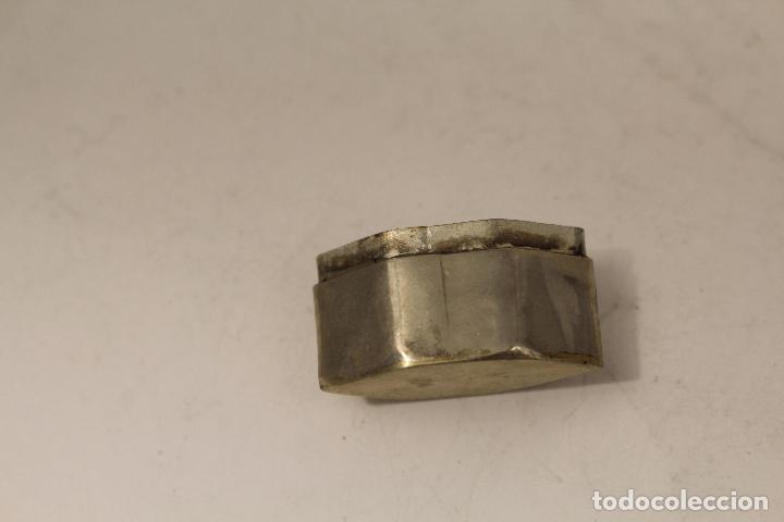 Antigüedades: cajita pastillero en plata de ley 925milesimas con nacar - Foto 3 - 125990148