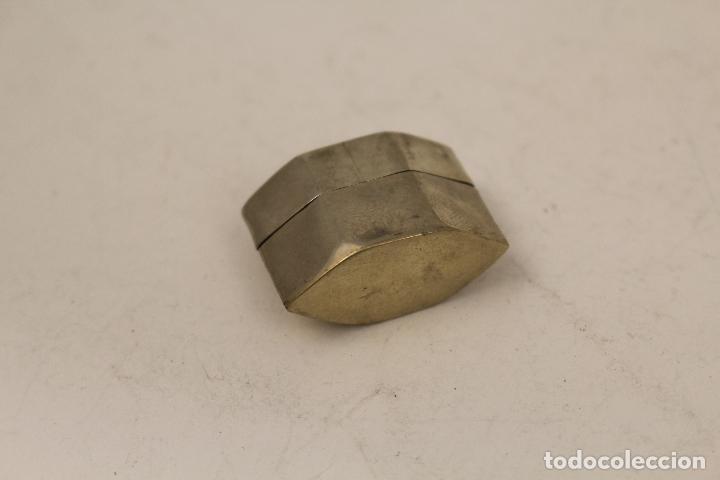 Antigüedades: cajita pastillero en plata de ley 925milesimas con nacar - Foto 6 - 125990148