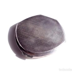 Antigüedades: POLVERA DE PLATA LEY 916 - EN PERFECTO ESTADO SIN ESTRENAR 107 GRAMOS - UNOS 8 CM DE DIÁMETRO. Lote 116439091