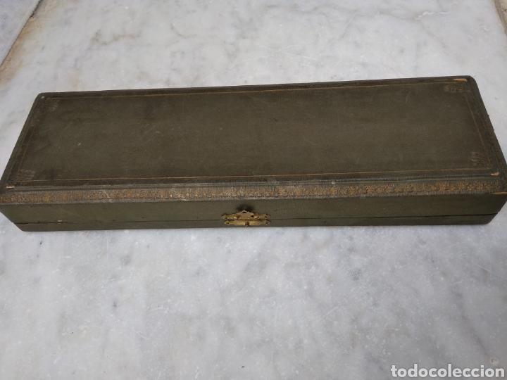 Antigüedades: Pareja de cubiertos de servir con mango de plata - Foto 12 - 116440286
