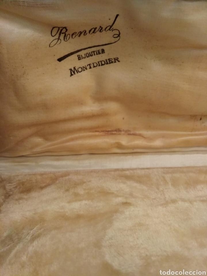 Antigüedades: Pareja de cubiertos de servir con mango de plata - Foto 8 - 116440286
