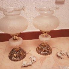 Antigüedades: 2 LAMPARA DE MESITAS ANTIGUAS. Lote 116444027