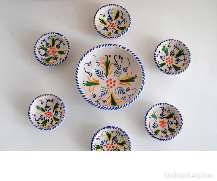 Antigüedades: JUEGO BOLES- CERÁMICA PUENTE ARZOBISPO - Foto 5 - 116450103