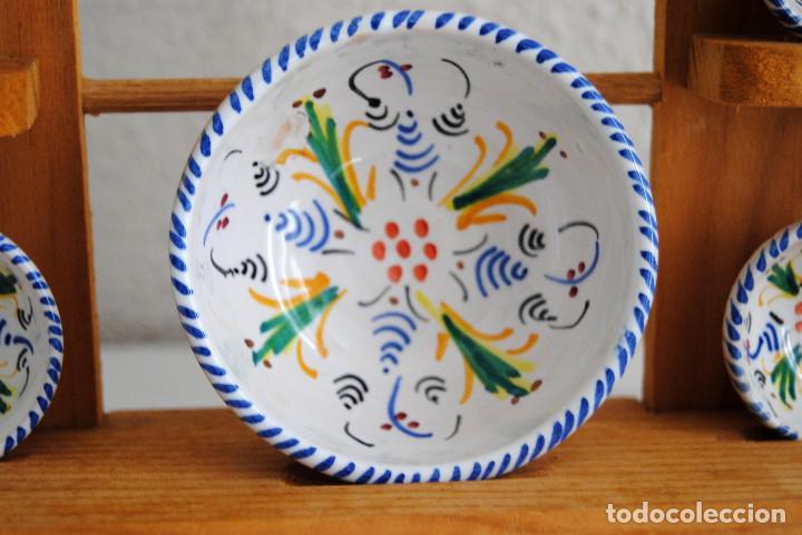 Antigüedades: JUEGO BOLES- CERÁMICA PUENTE ARZOBISPO - Foto 9 - 116450103