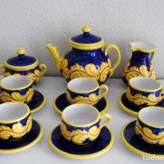 Antigüedades: JUEGO CAFÉ- CERÁMICA PUENTE ARZOBISPO. Lote 116452519