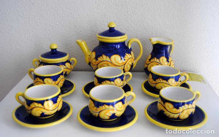 Antigüedades: JUEGO CAFÉ- CERÁMICA PUENTE ARZOBISPO - Foto 2 - 116452519