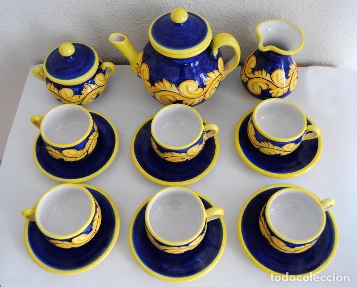 Antigüedades: JUEGO CAFÉ- CERÁMICA PUENTE ARZOBISPO - Foto 3 - 116452519