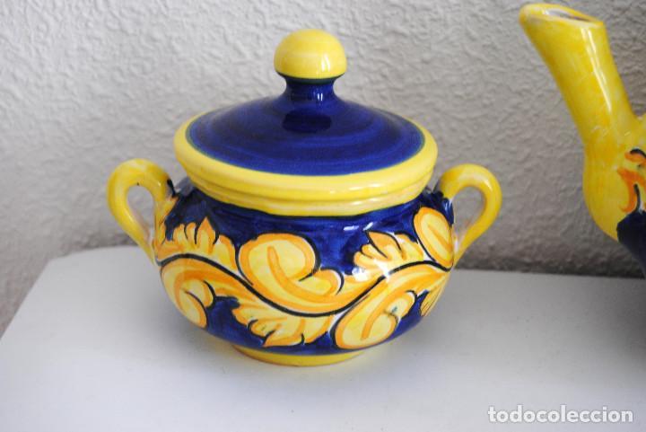 Antigüedades: JUEGO CAFÉ- CERÁMICA PUENTE ARZOBISPO - Foto 5 - 116452519