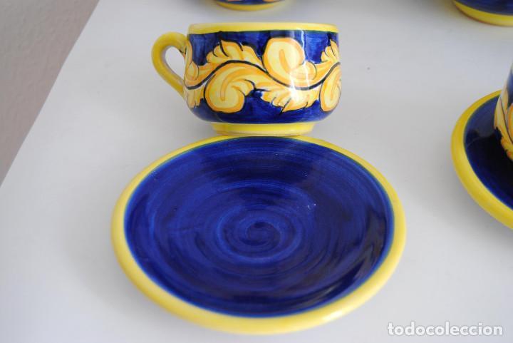Antigüedades: JUEGO CAFÉ- CERÁMICA PUENTE ARZOBISPO - Foto 7 - 116452519