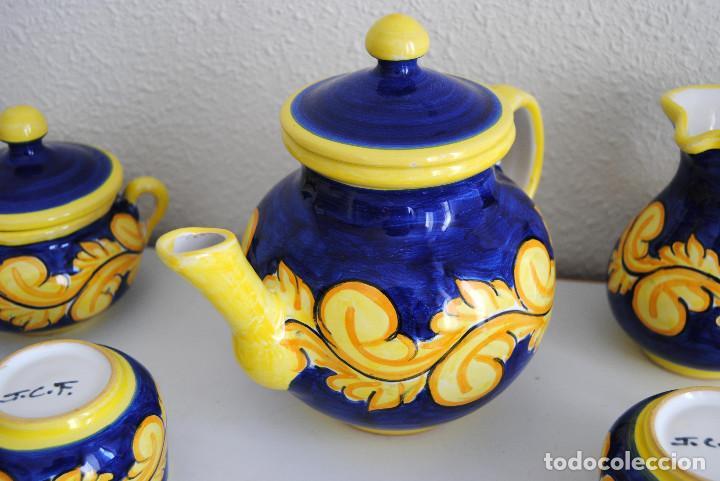 Antigüedades: JUEGO CAFÉ- CERÁMICA PUENTE ARZOBISPO - Foto 10 - 116452519